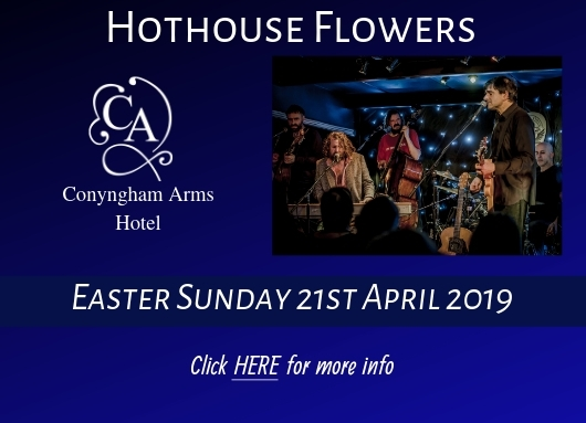 Hothouse Flowers live in concert at Conyngham Arms Hotel, Slane. Easter Sunday 21st April
